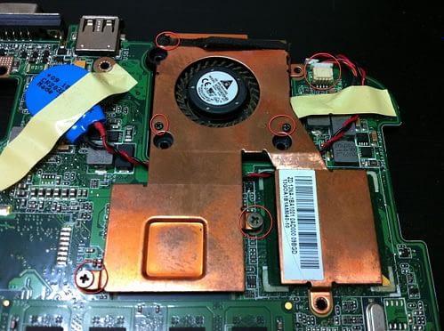 Разборка Asus Eee PC. Вид компонентов.